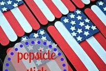 4th of July Theme / Preschool, kindergarten, early elementary theme / unit curriculum, crafts, songs, finger plays, printables, games, math, science, ideas. See also President's Day, Flag Day