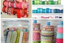 Craft Room Organization / Organization ideas to keep your stash in order.