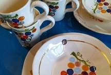 Ceramics i find beautiful  & my own  Hand Painted and gilded Ceramics made in Italy by Cassandra Wainhouse