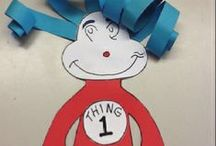 Dr. Suess Theme / Preschool, kindergarten, early elementary theme / unit curriculum, crafts, songs, finger plays, printables, games, math, science, ideas.