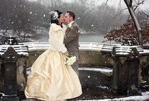 Winter wedding / winter wedding, bridal dress, bridal jewelry