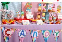 Candyland Rainbow Party / Fun ideas for a Candyland party with a rainbow twist. / by Fleece Fun - Sewing, crafts