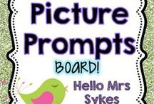 Picture Prompts / The Picture Prompts board is where I keep a variety of visual prompts for quick writes in the classroom.