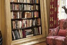 "The Book Nook / ""The written word, obviously, is very inward, and when we're reading, we're thinking. It's a sort of spiritual, meditative activity. When we're looking at visual objects, I think our eyes are obviously directed outward, so there's not as much reflective time. And it's the reflectiveness and the spiritual inwardness about reading that appeals to me."" — Joyce Carol Oates  / by Kathy's LittleThings"