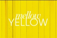 Yellow Makes me Mellow / Mint is my all-time fav color, but YELLOW has a special place in my heart as does coral. Yellow is alive. Yellow is happy. Yellow is sunshine. Yellow is cheerful. Just a few of my fav yellow things:) / by Kathy Myers
