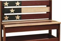 Patrotic Amish Furniture and Amish Decor Inspiration /  *SAVE 10% WITH CODE PIN10* These patriotic inspired items are great for the 4th of July, Memorial Day or Labor Day.  Customers also can choose to decorate your home and office with Red, White and Blue colors to show your patriotism and love of America all year round.  At DutchCrafters.com we offer a wide variety of furniture and décor items in a patriotic style.  All of our furniture is also Amish handcrafted proudly in the USA!