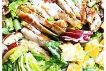 Salad Recipes / These Salad Recipes will turn even the biggest health-food hater into a salad fan. Mix veggies, greens, proteins and toppings to create your own one-of-a-kind signature salad or follow one of these super simple, super tasty Salad Recipes and you're on your way to flavor town!