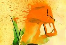 Playing With Orange - Paintings