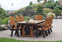 Outdoor Dining Furniture / Enjoy the beauty of the outdoors with family and friends around American made outdoor dining furniture.  Our outdoor furniture and patio furniture is all proudly made in America with eco friendly poly lumber and solid wood.