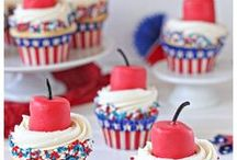 Fourth of July Desserts / Celebrate America's independence with a sweet treat. Our Fourth of July Dessert Recipes will fill you up with yummy sugary sweetness and patriotism! Our American-theme cakes, sweets, and cookies are perfect for your 4th of July BBQ or family reunion.