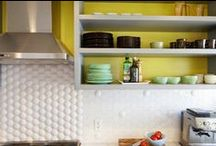 Subway Tile in the Kitchen / Subway tile can create a classic look in any kitchen--Vintage or modern.