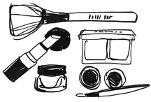 Sketch Artist / Donald Robertson shows off his makeup-obsessed sketchpad.  / by Bobbi Brown