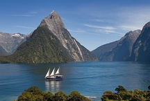 Milford Sound / Located in New Zealan'd Fiordland National Park, Milford Sound is arguably one of the most beautiful places on the planet. If you're travelling around New Zealand, a visit to Milford Sound is a must!