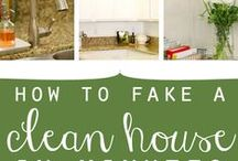 Home Cleaning Tips (the quick & the cheap) / As busy moms, we WANT a clean house, but time is hard to come by. Here are tips, ideas and suggestions for keeping your house clean without spending hours. / by Kelly @MoneyMakingMommy