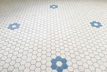 Subway Mosaics Collection / We offer a complete collection of porcelain mosaics. We can create any design, either an original mosaic from a photo or historic catalog, or your own creation! 24 colors, 4 shapes, 7 sizes.