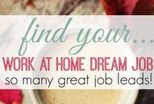 Work at Home Job Leads / Job Leads posted every day for job seekers looking for work at home and wanting to telecommute. #workathome / by Kelly @MoneyMakingMommy