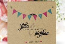 Papeterie zur Hochzeit / Kreative Papeterie gesucht? Hier zeigen wir Euch Ideen zur Inspiration und zum Nachmachen...