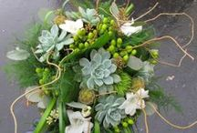Greens / Green wedding flowers and bridal bouquets