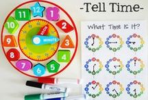 [Learning] TIme, Calendars & Days  / Crafts and activities to help toddlers and preschoolers learn Time, Days, Months and Years