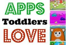 Technology for Toddlers / Great Learning Apps for kids and other ways to use technology in an educational way,