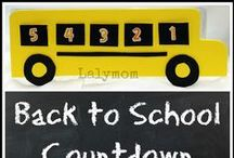 Back to School / Back to School Crafts, 1st Day of School Traditions, Special Foods and Photo Ideas for the new school year. / by Laura @ Lalymom Kids Crafts & Activities