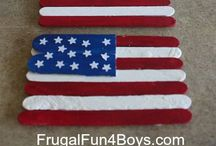 [Holiday] 4th of July For Kids / Crafts, games, activities and decorations to DIY with kids for the 4th of July.