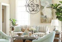 Coastal Decor Ideas / Ideas to refresh our living room in a coastal theme.
