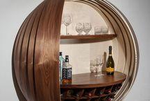 Wine Racks + Bar