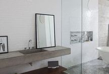 BATHROOMS / Interior design inspiration for contemporary bathrooms. Everything from modern shower spaces to tiny powder bathrooms. / by Modern Eve