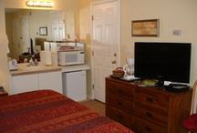 Branson King Studio Suite / Beck III Vacation Rental - Thousand Hills Golf Resort / Enjoy this KING Studio Suite with the 76 STRIP as Your BACKYARD!  Have Affordability and In-Home Conveniences with the Mini Kitchenette, LCD Flat Screen TV, Sofa Sleeper & Breakfast/Computer Bar, & Option to Adjoin the 1Br/1Ba Condo.  Located in the HEART OF BRANSON!  Inquiries:  SharingOurHome@gmail.com / by Marilyn K Beck