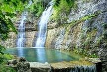 Branson's AR Day Trips / Arkansas is Just A 30 Minute Drive from Branson!  Explore Many of the Attractions Around, Near and In Arkansas.  Visit Dogwood Canyon Nature Park, SouthWest of Branson,on Hwy 86, Bull Shoals Lake from Forsyth, MO into Arkansas, and Eureka Springs, AR, 50 Miles SouthWest, Listed on the National Register of Historic Places.  / by Marilyn K Beck