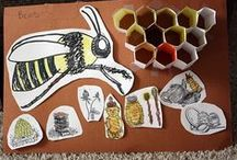 Bee stuff / Anything that has to do with bees - decorations, food, or for-real beekeeping stuff.
