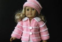 """AMERICAN GIRL doll (plus) knitting patterns PLUS some other things I made / ALL MY WORK or others made based on my patterns; Knitting patterns and finished projects that fit most 18"""" dolls. Plus some sewing projects made of previously loved clothes."""