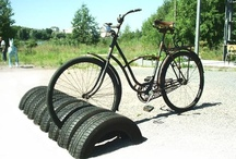 Repurposed Car Parts, Tires, License Plates and more / Inspiration for the recycling fans: recycled car parts - upcycled car parts - upcycled tires - upcycled license plates.