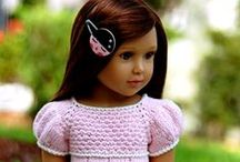 """KIDZnCATS doll clothing & patterns / mostly knitting but some sewing patterns and projects to fit slim bodied 18"""" dolls such as Sonja Hartmann's Kidz n Cats dolls"""