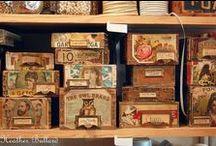 Craft Storage / Vintage style craft storage