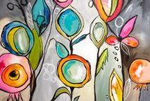 Mixed Media Artwork / Beautiful inspiring artwork, mixed media ideas, mixed media techniques, color inspirations, art journal, art ideas
