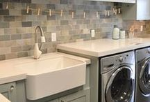 LAUNDRY ROOMS, CRAFT ROOMS, & MUD ROOMS / This board is the place to save interesting and efficient ideas for storage and decor for laundry, craft, and mud rooms.  These rooms can be organized and beautiful all at the same time!  Find inspiration for gorgeous laundry rooms, fun craft rooms, and wise mud rooms.
