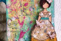 Mixed Media Art / Mixed media inspiration and ideas