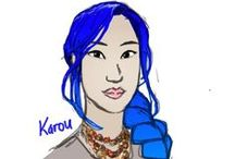 """daughter of smoke and bone / Meet Karou. She fills her sketchbooks with monsters that may or may not be real; she's prone to disappearing on mysterious """"errands""""; she speaks many languages--not all of them human; and her bright blue hair actually grows out of her head that color. Who is she? That is the question that haunts her, and she's about to find out."""