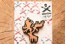 WooDoo // Handmade Wooden accessories (brooch & pendant) / WooDoo? Handmade!   ▼ Wooden jewelry / accessories Hand-carved and hand-painted   ▼ Dřevěné šperky / doplňky Ručně vyřezané a ručně malované