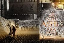 """emberling / A """"deft, polished debut""""  (Publishers Weekly, starred review), Sabaa Tahir's AN EMBER IN THE ASHES is a thought-provoking, heart-wrenching and pulse-pounding read. Set in a rich, high-fantasy world with echoes of ancient Rome, it tells the story of a slave fighting for her family and a young soldier fighting for his freedom."""