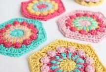 Granny Crochet / Crocheting, Free crocheting patterns, easy crochet, granny stripe, granny circle, granny square, how to join granny squares.