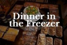 Food: Freezer Meals / Frozen assets. Planning ahead with meals in the freezer.
