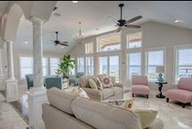 Outer Banks Interiors / Inspiring architecture and decor in our premiere vacation rental homes.  Outer Banks of North Carolina. www.CarolinaDesigns.com