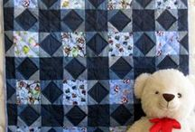 Jeans Quilt / Great ideas to do with old denim or old blue jeans. / by Unique Baby Quilt Boutique
