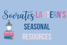 Socrates Lantern's Seasonal Resources / This is a seasonal collaborative board for holidays, and every month of the year. Find inspiring and creative lessons for History, ELA, Math and more.