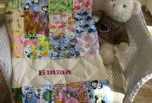 Personalized Baby Quilts / Personalized handmade patchwork baby quilts for boys and girls.