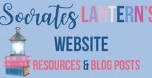 Socrates Lantern's Website Resources & Blog Posts / A Wealth of iInformation, Free Materials, Resources & Blog Posts to Help Teachers & Homeschoolers inspire their charges, day by day.