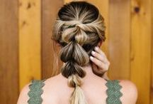 Easy Hair Ideas / Tutorials for beachy waves, fancy updos and everything in between. Hair color inspiration and the best homemade, all-natural haircare recipes.